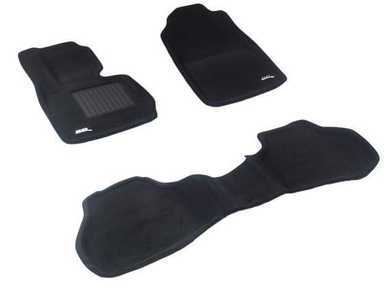 Двухслойные коврики Sotra 3D Premium 12mm Black для BMW X3 (F25) 2011-2017